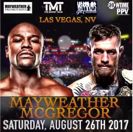 Mayweather VS. McGregor! It's ON!!!